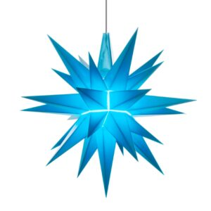 13 cm blå – Plast med LED