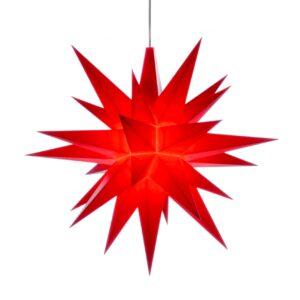 13 cm Rød – Plast med LED