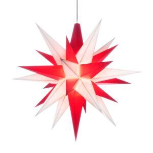 13 cm Rød/Hvid – Plast med LED