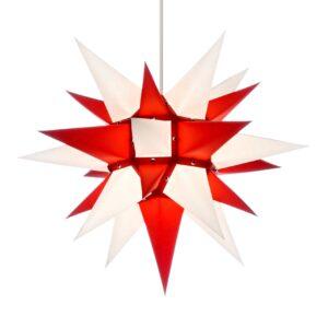 40 cm rød/hvid – papir
