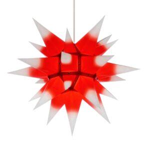 40 cm hvid med rød kerne – papir