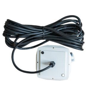 10 meter sort ledning – til udendørs brug til 130 cm