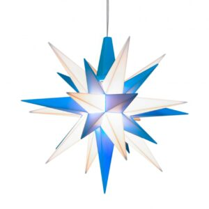 13 cm Blå/Hvid – Plast med LED