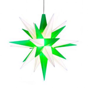 13 cm Grøn/Hvid – Plast med LED