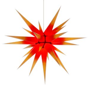 80 cm gul med rød kerne – Papir