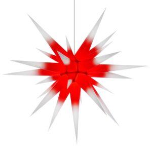 80 cm hvid med rød kerne – Papir