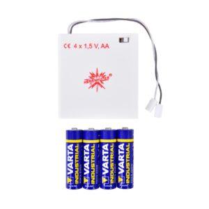 Batteriholder til én stjerne med LED